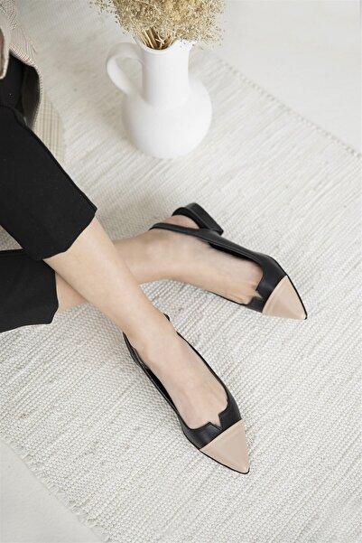 STRASWANS Kadın Siyah Ten Topuklu Ayakkabı