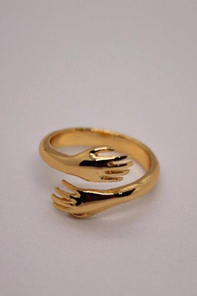 AyKara Altın Kaplama Sevgi Yüzüğü