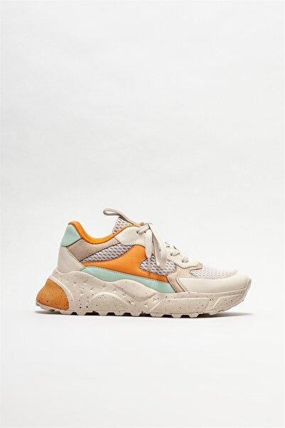 Elle Shoes Kadın Bej Spor Ayakkabı