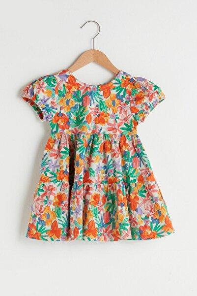 LC Waikiki Kız Bebek Turuncu Baskılı Lsr Elbise