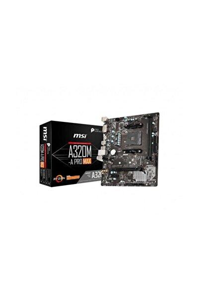 MSI A320M-A PRO MAX DDR4 3200MHz (OC) DVI HDMI USB3.2 mATX AM4