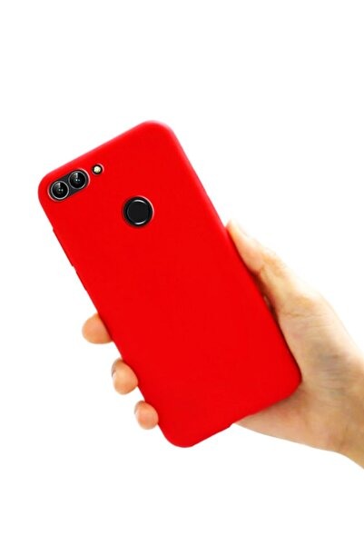 Molly Huawei P Smart 2018 Uyumlu Şeker Kırmızısı Liquid Pastel Kılıf