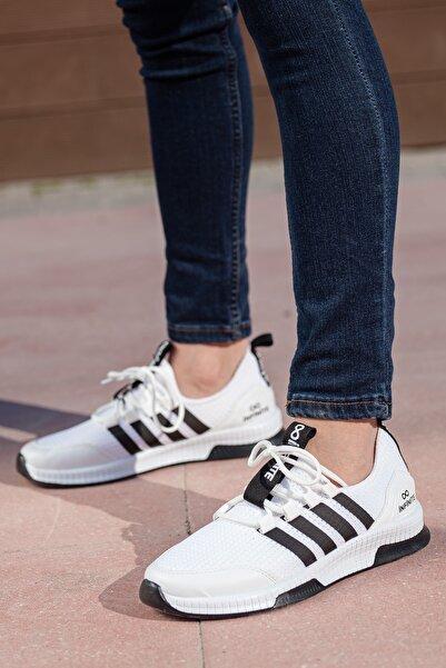 MUGGO Unisex Beyaz Sneaker Ayakkabı Mgforce01