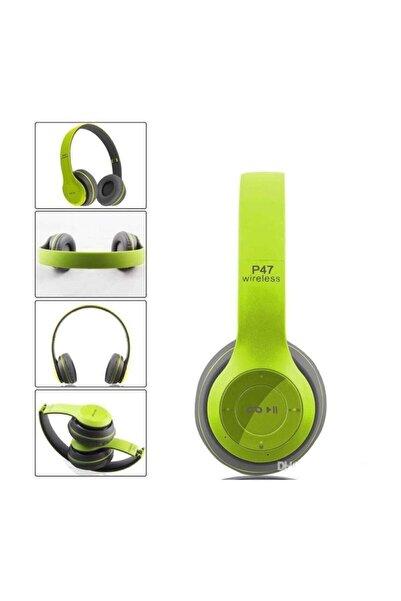 POLYGOLD Bluetooth Kulaklık Mp3 Fm Solo 2 Beats Model Kulaküstü - P47 Yeşil