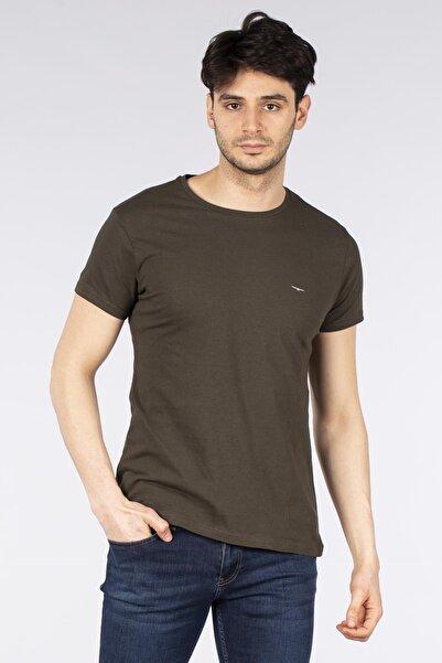 BARRELS AND OIL Erkek Basic Kartal Baskılı T-shirt
