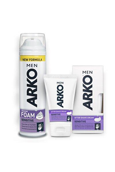 ARKO Men Tıraş Köpüğü Sensitive 200ml Ve Men Tıraş Sonrası Krem Sensitive 50ml