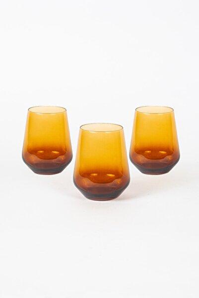 Rakle Amber 3lü Su Bardağı Seti 425 cc