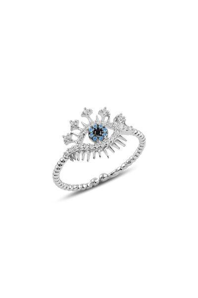 Söğütlü Silver Gümüş Ayarlamalı Göz Modeli Yüzük