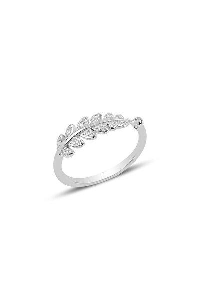 Söğütlü Silver Gümüş Ayarlamalı Yaprak Modeli Yüzük