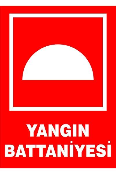 İzmir Serigrafi Yangın Battaniyesi 3mm Dekota Uyarı Levhası 17,5 X 25 Cm