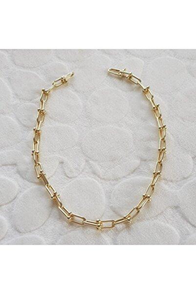 Canka Tiffany Gümüş Kolye Altın Kaplama