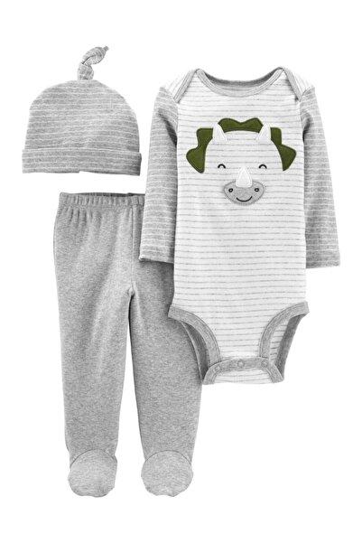 Carter's Erkek Bebek Çizgi Desenli 3'lü Set