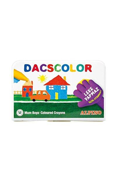 Alpıno Dacscolor 12 Renk Plastik Çantalı Mum Boya