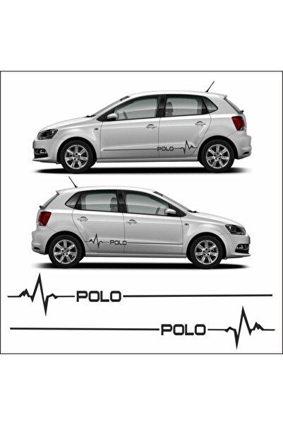 Erzline Volkswagen Polo Yan Şerit Ritim Oto Sticker Aksesuar