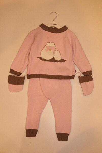 Monna Rosa Kız Bebek Pembe Takım