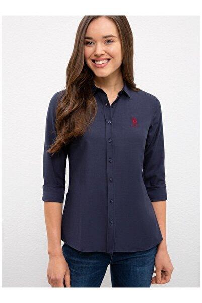 U.S. Polo Assn. Kadın Lacivert Gömlek