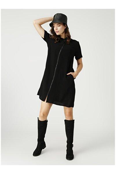 Fabrika Kadın Siyah Elbise