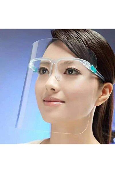 KAVELE Lüx Gözlüklü Siperlik Yüz Ve Göz Koruyucu Şeffaf Ağız Siperliği