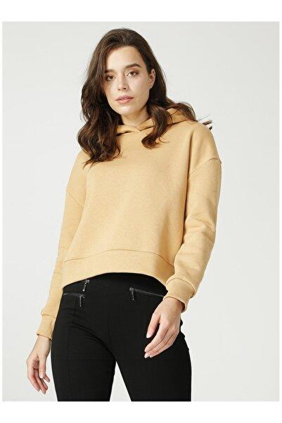 Fabrika Kadın Vizon Kapüşonlu Sweatshirt