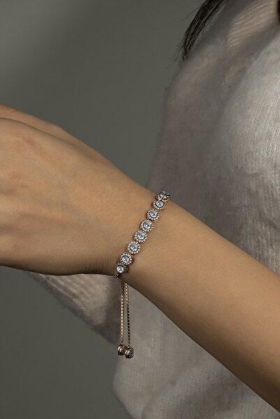 Else Silver Elmas Modeli Asansörlü Gümüş Bileklik