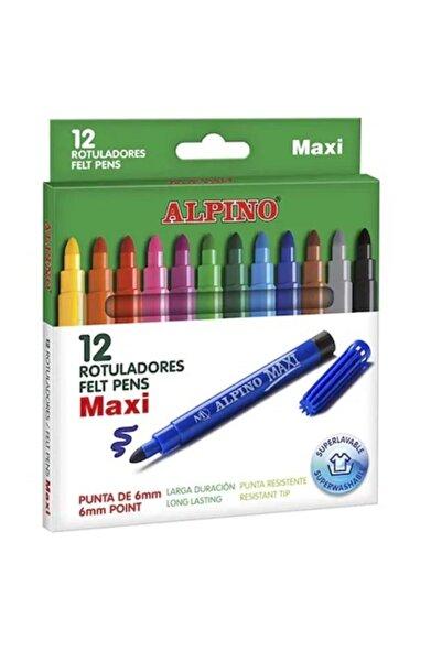 Alpıno Jumbo Keçeli Kalem 12'li Yıkanabilir