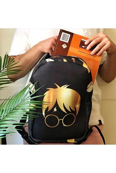 adresshomeart Unisex Siyah Harry Potter Büyücü Tasarımlı Çanta
