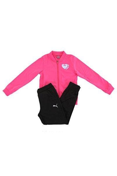 Puma 583317-25 Poly Suit G Çocuk Eşofman Takımı Pembe