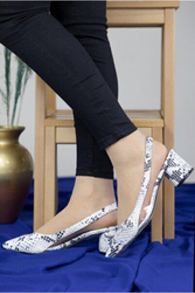 Oioi Kadın Beyaz Yılan Topuklu Ayakkabı 1003-119-0002_2004