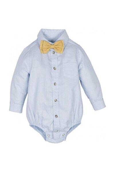 Mamino Erkek Bebek Mavi Body Gömlek