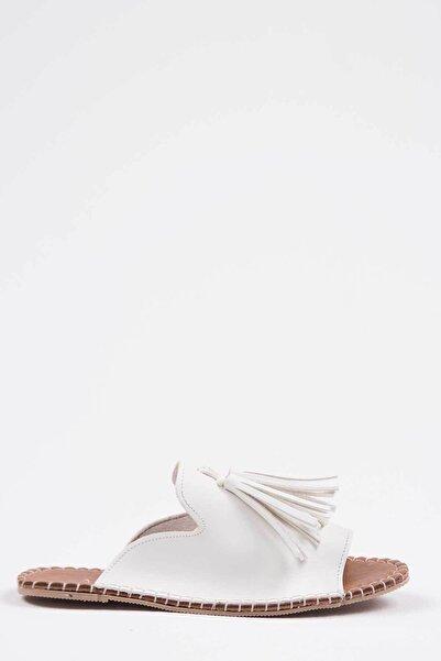 Oioi Kadın Beyaz Terlik 1005-122-0001_1003