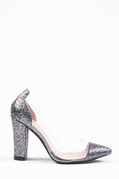 Oioi Kadın Gri Topuklu Ayakkabı 1010-119-0002_1018