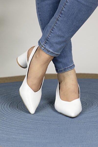 Oioi Kadın Beyaz Topuklu Ayakkabı 1003-119-0001_1003