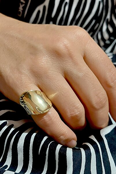 Viva Hera Aksesuar Ayarlanabilir Gold Şovalye Yüzük