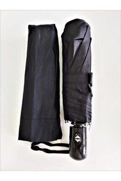 Demirhan Unisex Siyah Tam Otomatik Rüzgarda Kırılmayan Şemsiye To-4425