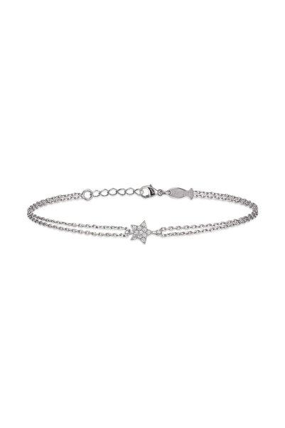 KURSHUNI Kadın Gümüş Starlet Bileklik