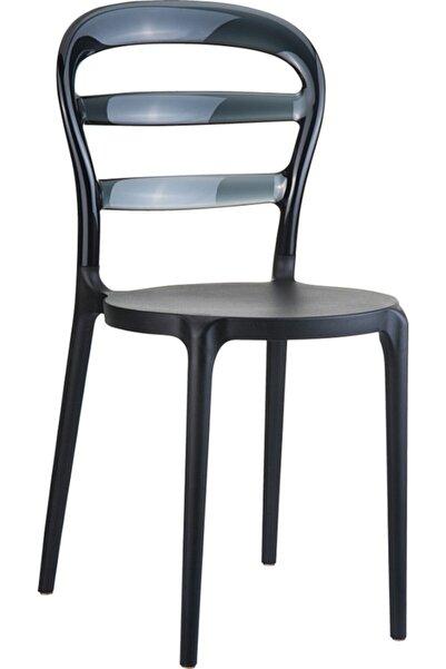 Siesta Miss Bıbı Sandalye Siyah Transparan