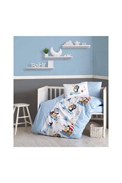 Cotton Box Penguen - Mavi Baby Collection Nevresim Takımı