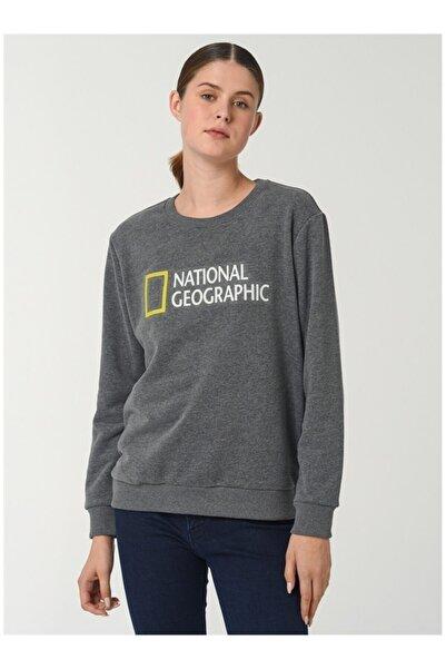 NATIONAL GEOGRAPHIC Kadın Gri Sweatshirt