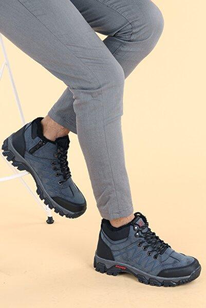 Ayakland Erkek Lacivert Içi Termal Kürk Termo Bot Ayakkabı Bs 571