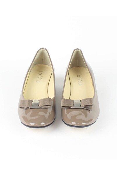 Özel Tasarım Kadın Vizon Rugan Yumurta Topuk Ayakkabısı