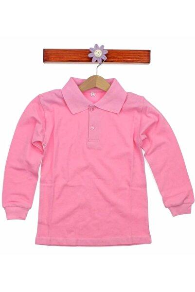 Nacar Kız Çocuk Pembe Uzun Kollu Tişört