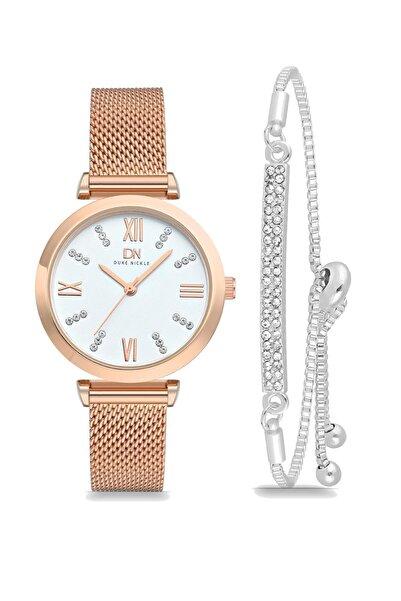 Duke Nickle T7dbg1017 Kadın Kol Saati Ve Zirkon Taşlı Bileklik