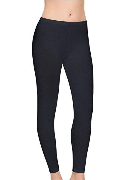 Tutku Kadın Siyah Elit Likralı Sporcu Uzun Tayt Pantolon