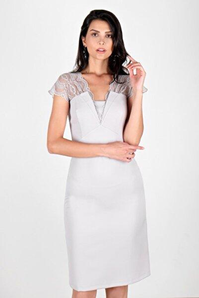 Spazio Kadın Gri Abiye & Mezuniyet Elbisesi 60096654