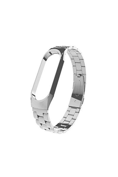 dijimedia Xiaomi Mi Band Gümüş 4 Akıllı Saat Metal Kordon Kayış Xiaomi Mi Band