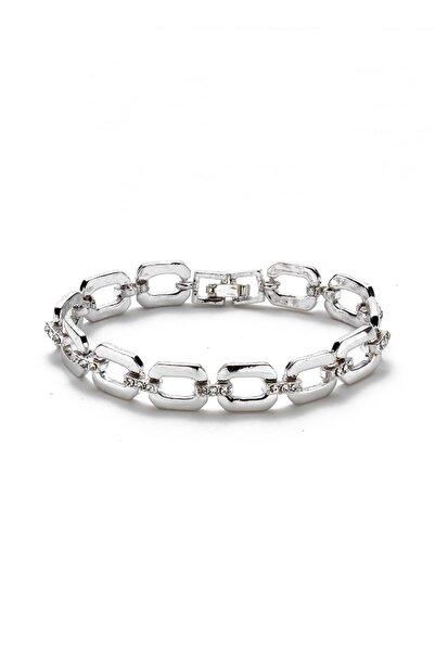 Modex Kadın Gümüş Rengi Taşlı Bileklik