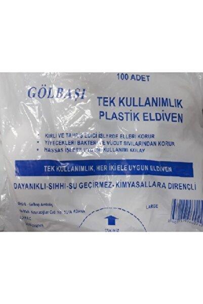 GÖLBAŞI Tek Kullanımlık Plastik Eldiven 100 'lü 1 Adet