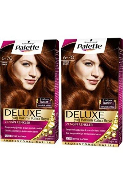 PALETTE DELUXE Saç Boyası 6.70 Kahve Bakır 2 Adet