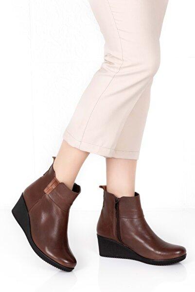 Gondol Kadın Kahverengi  Dolgu Topuk Bot Ert.2611