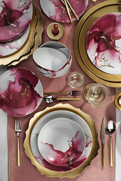 Kütahya Porselen 24 Parça Altın Varaklı Dekoratif Yemek Takımı